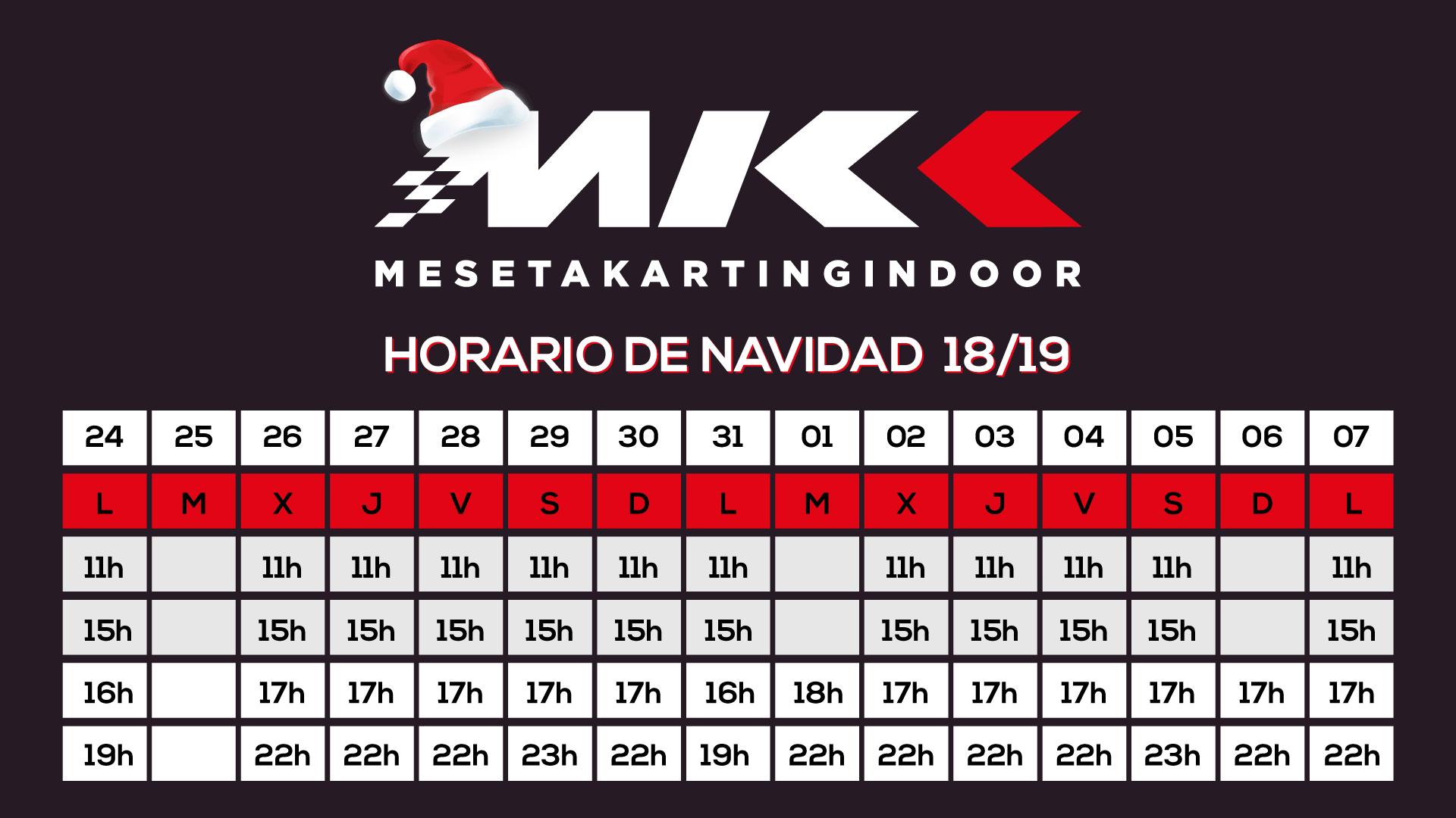 horario Navidad Meseta Karting Indoor Valladolid
